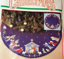 bucilla nativity tree skirt ebay