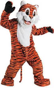 amazon com rubie u0027s costume tiger mascot costume orange one size