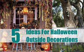 thrilling and spooky ideas for outside decorations