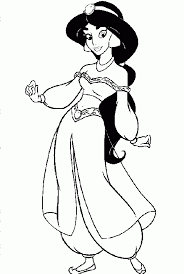 cartoon printable disney princess coloring pages jasmine