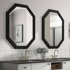 Bathroom With Mirror Bathroom Mirrors Bath The Home Depot Pertaining To For Plan 7