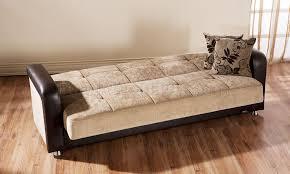 Brown Sleeper Sofa by Vision Benja Sleeper Sofa In Light Brown By Sunset