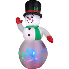 snowman curtains kitchen 8 u0027 airblown inflatable panoramic projection snowman christmas