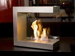 modern ventless gas fireplace in portable design c shapes indoor scenery warm design kitchen ideas