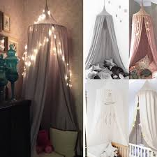 kids baby bed canopy bedcover mosquito net curtain bedding dome