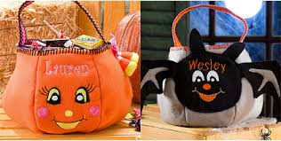 personalized trick or treat bags personalized embroidered trick or treat bag for just 8 46