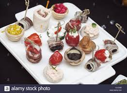 canapes for types of canapes for cocktails on a white plate note shallow