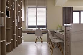 office workspace built in office design ideas modern neutral beige
