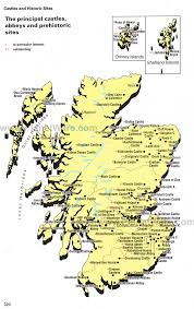 map of scotland and map of scotland principal castles abbeys and prehistoric