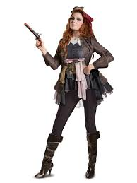 pirates of the caribbean 5 captain jack female deluxe
