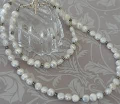 pearl sterling necklace images Luscious long white pearl sterling silver decorative necklace jpg