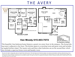 the avery floor plan in benevento and spring hill place