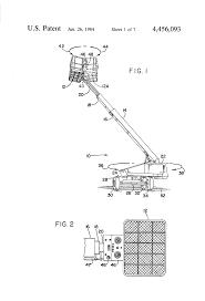 patent us4456093 control system for aerial work platform machine