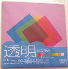 amazon com 30 sheets origami u0027paper u0027 made from poly transparent