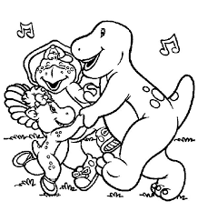 barney friends singing coloring pages place