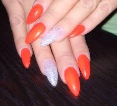 perfect full set by tom stiletto nails w gel nail polish
