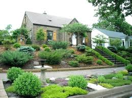 Small Sloped Garden Design Ideas Landscaping A Steep Front Yard Small Sloping Front Garden Ideas