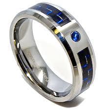 black and blue wedding rings 8mm black blue carbon fiber inlay unisex blue