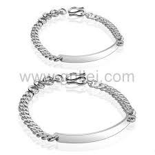 Sterling Silver Engravable Jewelry Sterling Silver Name Plate Charm Bracelets For Men And Women