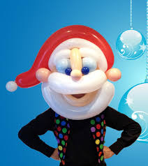 balloon santa mask from tassiemagic com au navidad globos