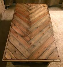 Woodworking Build Coffee Table by Rustic Herringbone Solid Wood Coffee Table By Purewoodworking