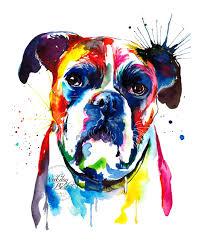 boxer dog t shirts uk colorful boxer dog art print print of my original watercolor