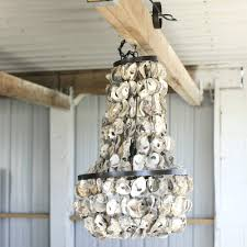 diy shell chandelier chandeliers rectangular oyster shell chandelier affordable