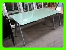 bureau verre et metal bureau plateau verre et metal bureau bureau europrix discount