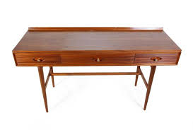 Repurposed Secretary Desk Mid Century Hamilton Console Table By Robert Heritage At 1stdibs