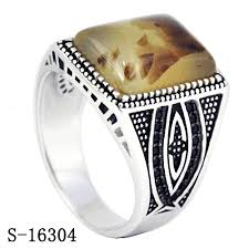 new stone rings images China 925 silver jewelry new models arabian styles men rings with jpg