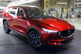 mazda car line first 2017 mazda cx 5 rolls off the assembly line in japan