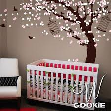 Cherry Blossom Wall Decal For Nursery Cerezos Etsy Cherry Blossom Wall Decal Wall And Wall