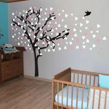 stickers arbre pour chambre bebe beau chambre pour 2 filles 8 sticker arbre 224 coeurs large