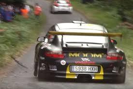 porsche 911 rally car watch this porsche rally car almost careen into spectators