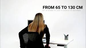 Jesper Sit Stand Desk by Deskrise Sps3 Height Adjustable Sit Stand Desks Youtube