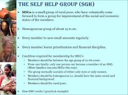 self help finance micro finance shg ppt