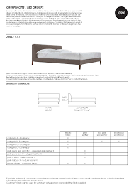 Letto King Size Dimensioni by Joel Bed By Jesse Pomphome