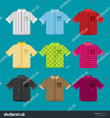 shirts colored templates your design flat stock vector 683311528