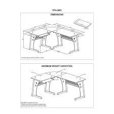 Metal And Glass Computer Desk Techni Mobili L Shaped Frosted Glass Computer Desk In Graphite
