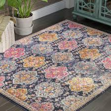 Area Rugs Syracuse Ny World Menagerie Fernand Blue Orange Area Rug Reviews Wayfair