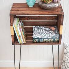 diy wood crate console table and shelf wood crates diy wood and