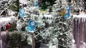 homebase uk christmas winter wonderland display of tress and