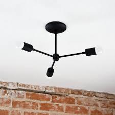mid century flush mount lighting illuminate vintage mid century 3 light semi flush mount reviews