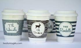 personalized paper coffee cups with lids