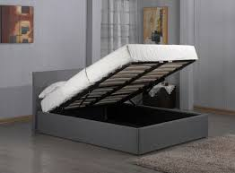 ottoman bed single 3ft 4ft 4ft6 5ft fusion grey linen fabric ottoman storage bed