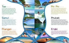 travel and tourism brochure templates free thailand travel brochure 5 travel guide design