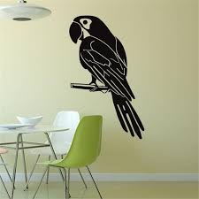 parrot home decor idfiaf creative home decoration parrot wall stickers living room