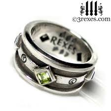 Gothic Wedding Rings by Moorish Gothic Silver Wedding Ring 925 Sterling Silver By 3