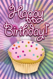 printable birthday card decorations cupcake birthday card png