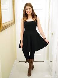 dresses with boots ootd black dress boots du jour